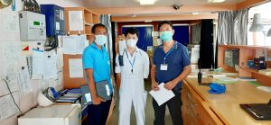 Thai Subsea Services onboard vessel with Class Surveyor f