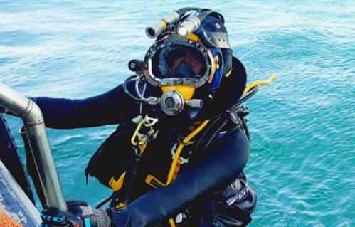A commercial diver