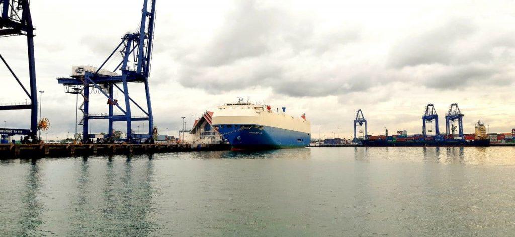 Underwater Ship Maintenance On Port.