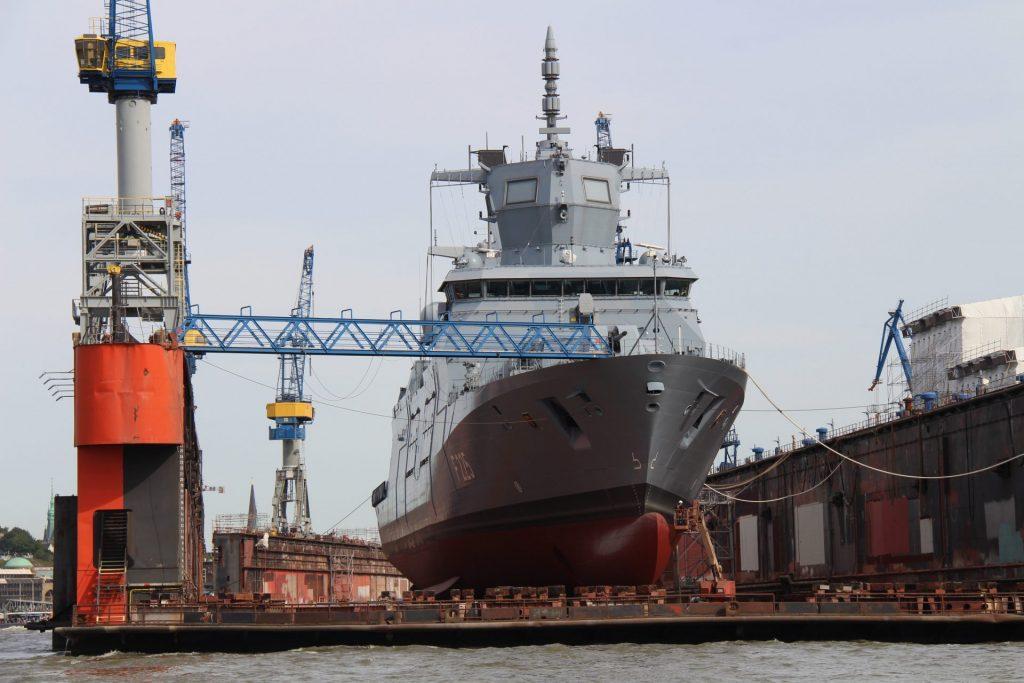 DryDocking and New Coated Ship